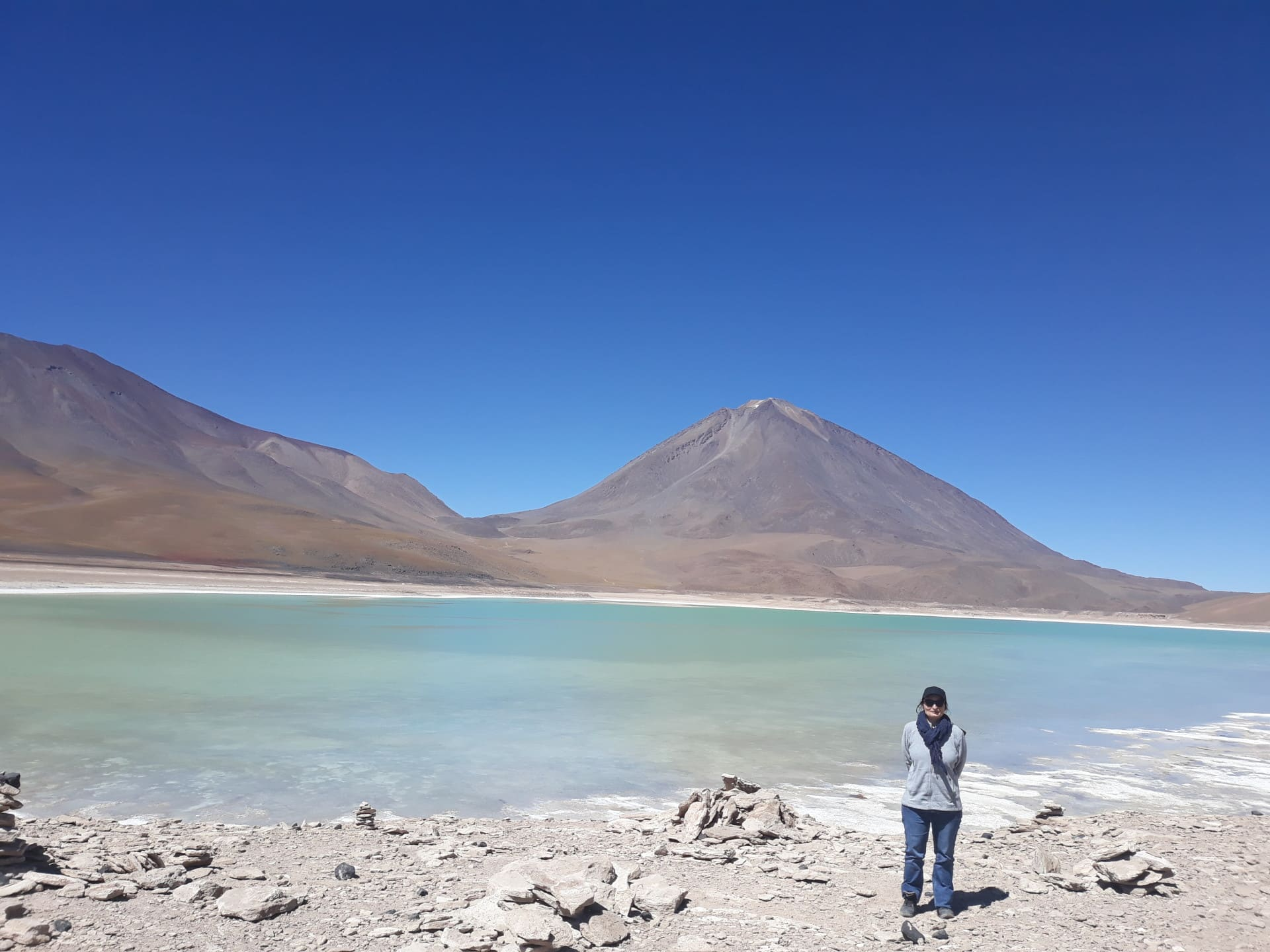 La laguna verde en Bolivie // Photo Espaces Andins