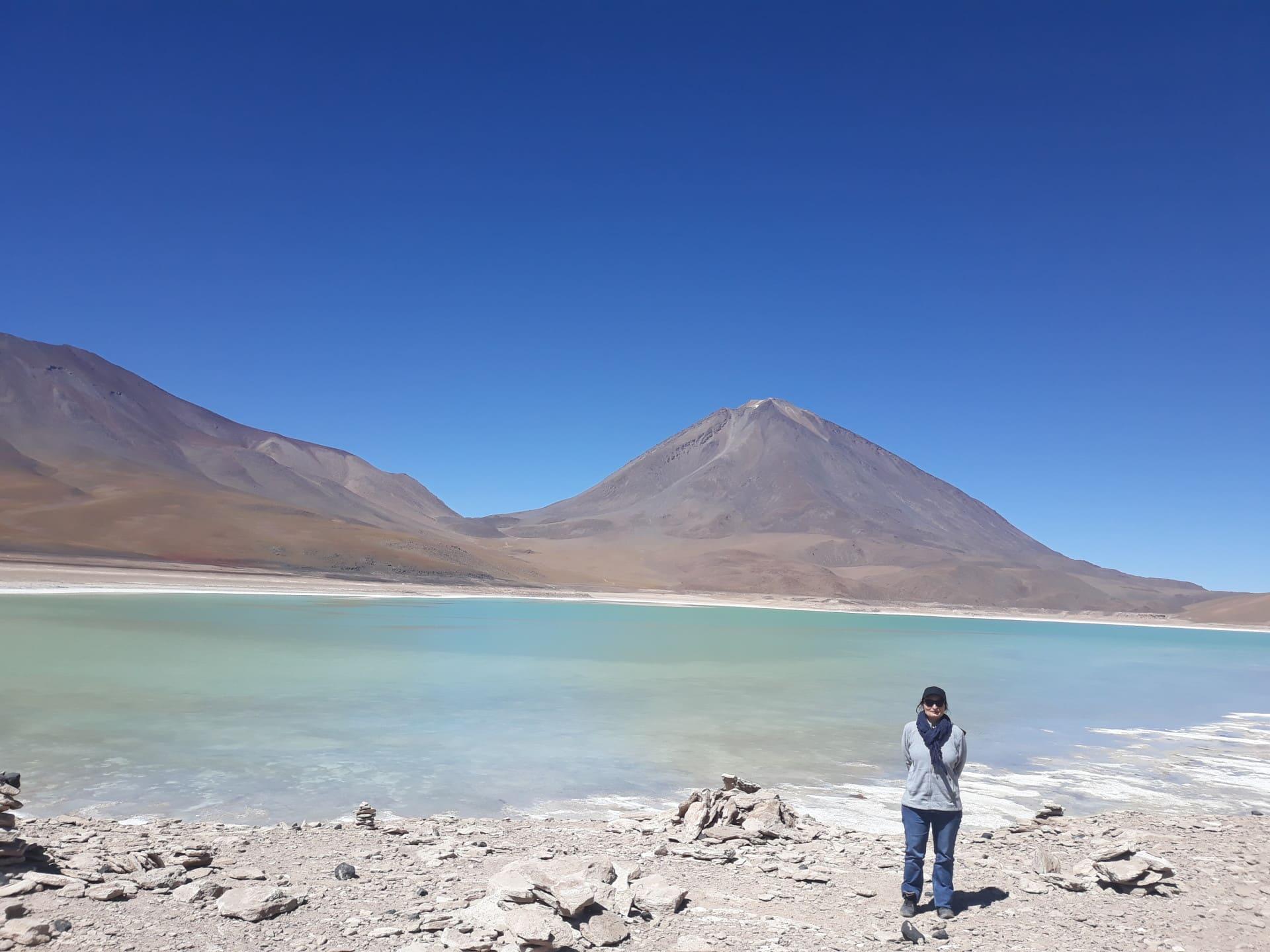 paysages colorés boliviens, laguna verde