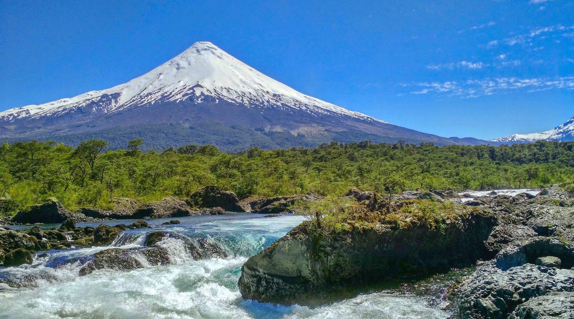 Chutes De Petrohue Patagonie Chilienne
