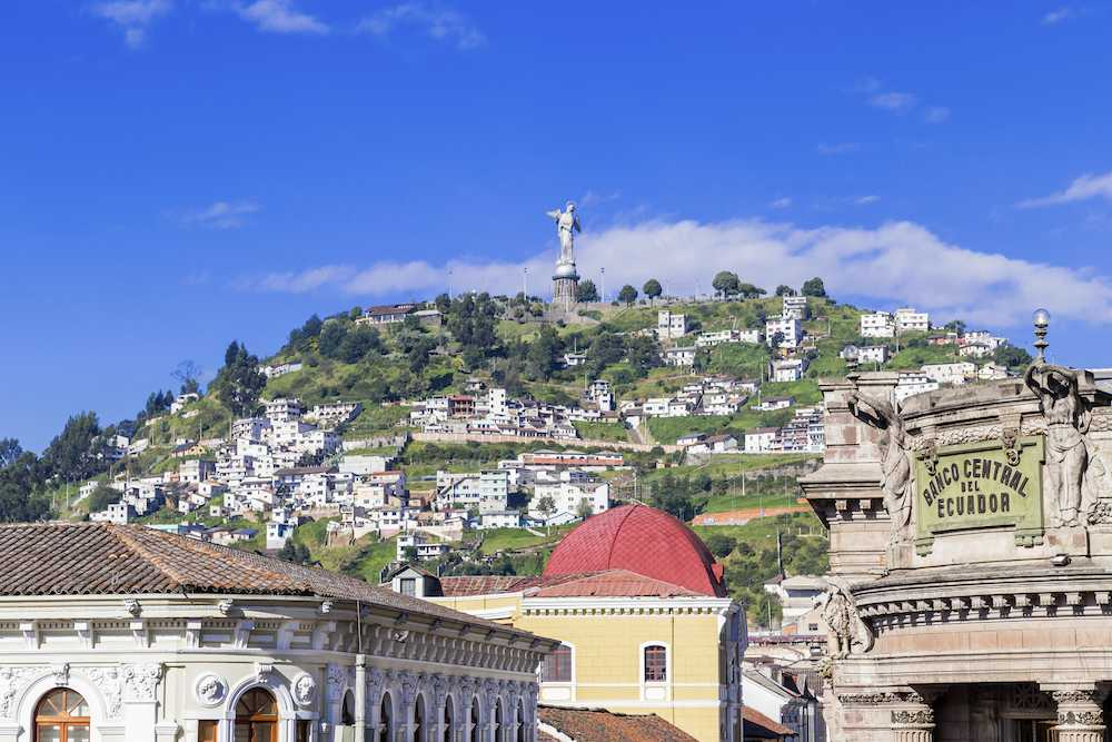 Sculpture Of The Virgin In Panecillo Quito Ecuador South America