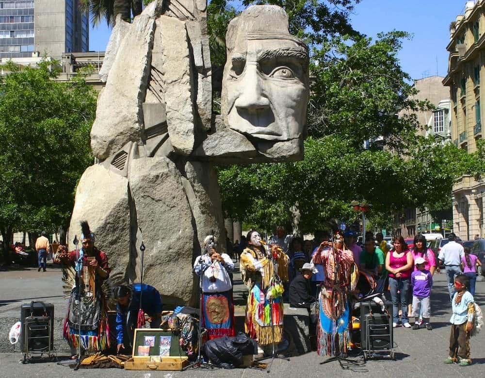 Slide6 Santiago Monument Mapuche