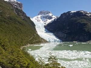 Le Glacier Serrano au Chili