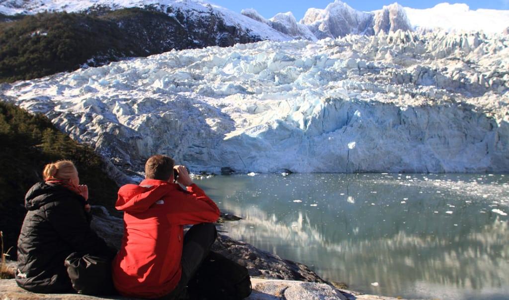 Glacier Pia en terre de feu. Croisière australis expédition en patagonie, terre de feu et cap horn avec espaces andins et les croisières australis
