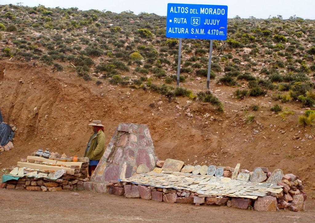 La route 52 en allant à Salinas Grandes, passage des 4000 m Photo : Espaces andins