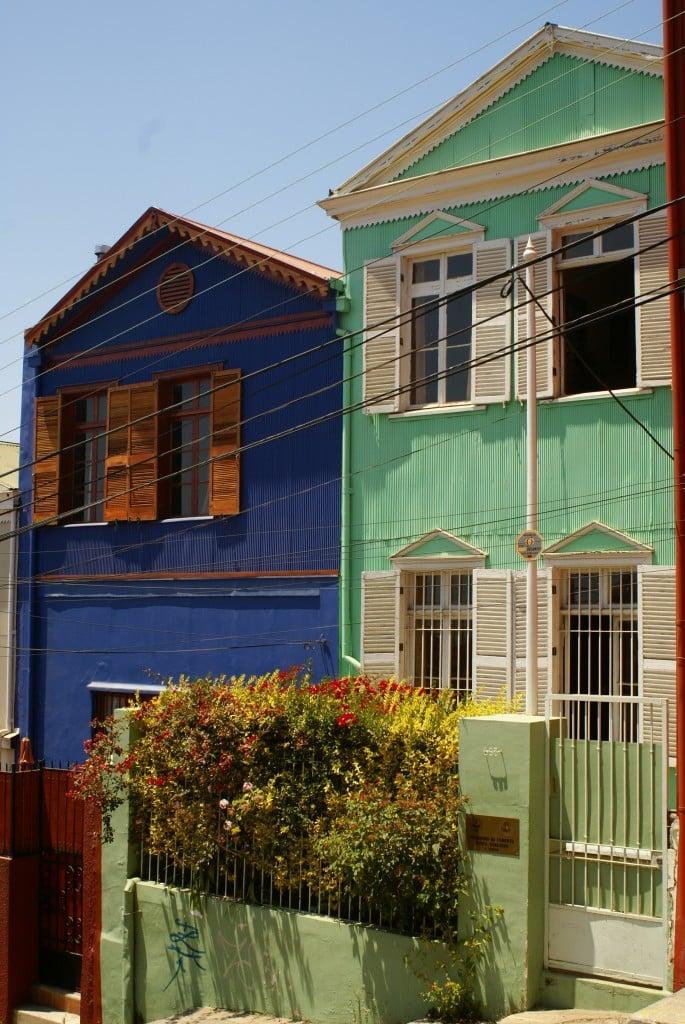 Les maisons de Valparaiso, Chili
