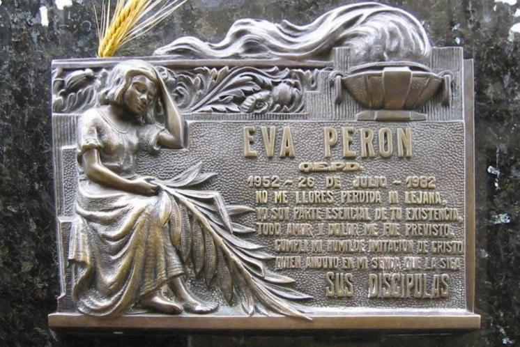 Eva Peron, cimetière de la Recoleta, Buenos Aires, Argentine