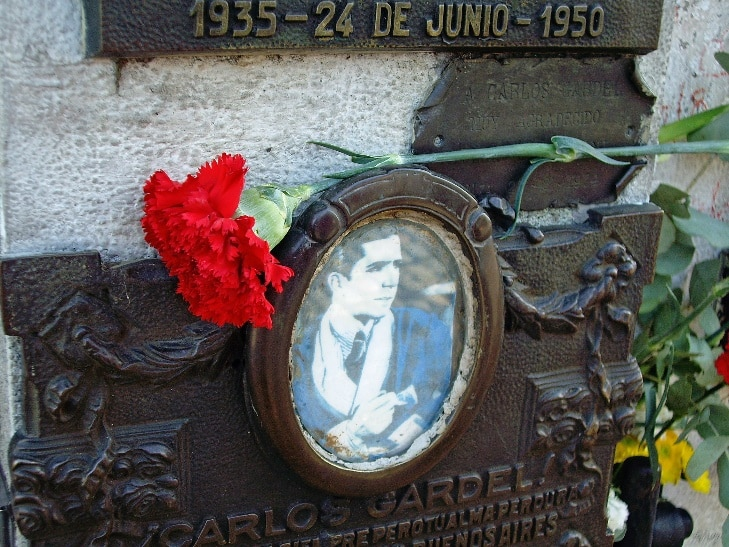 Garlos Gardel, cimetière de la Chacarita