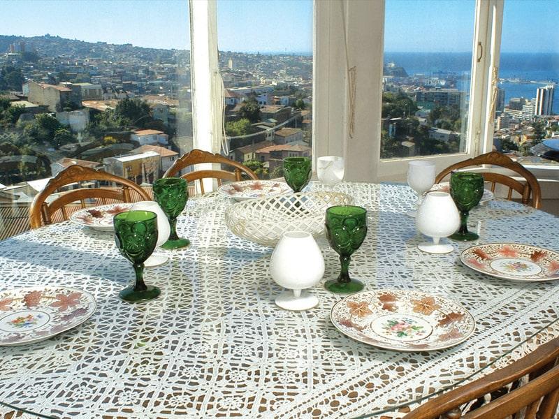 Salle à manger, la Sebastiana, Valparaiso