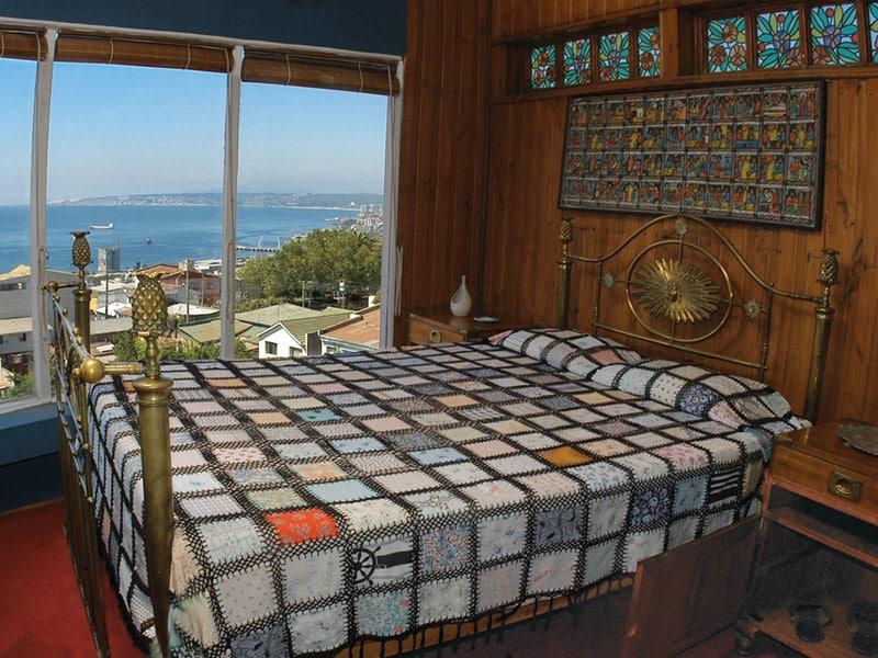 Chambre de la maison La Sebastiana, Valparaiso