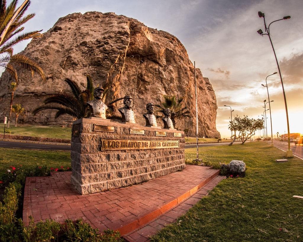 Bataille d'Arica Monument des héros de la guerre à Arica, Chili