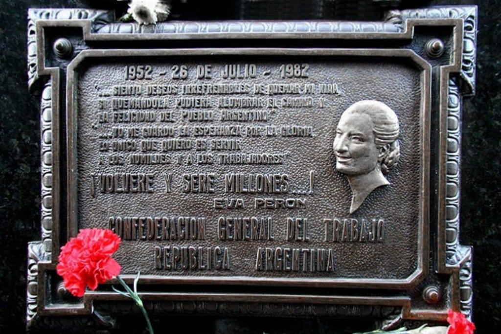 Eva Peron, la Recoleta, Buenos Aires, Argentine