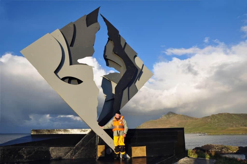 Au monument Albatros, Cap Horn, Chili