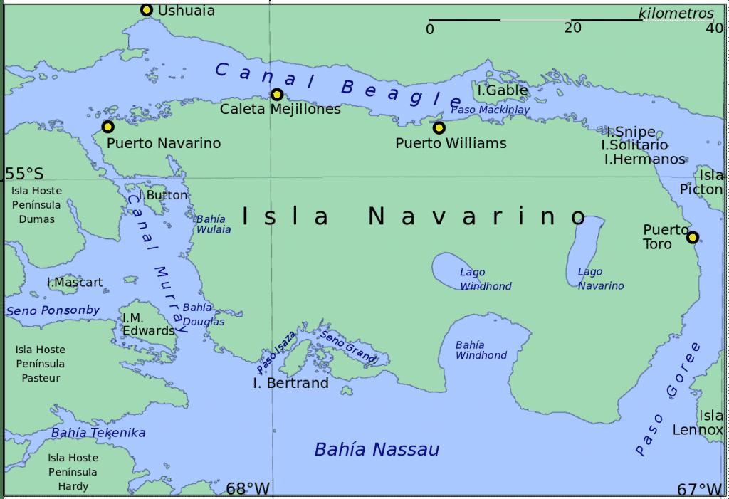 Terre de feu chilienne, Ile Navarino