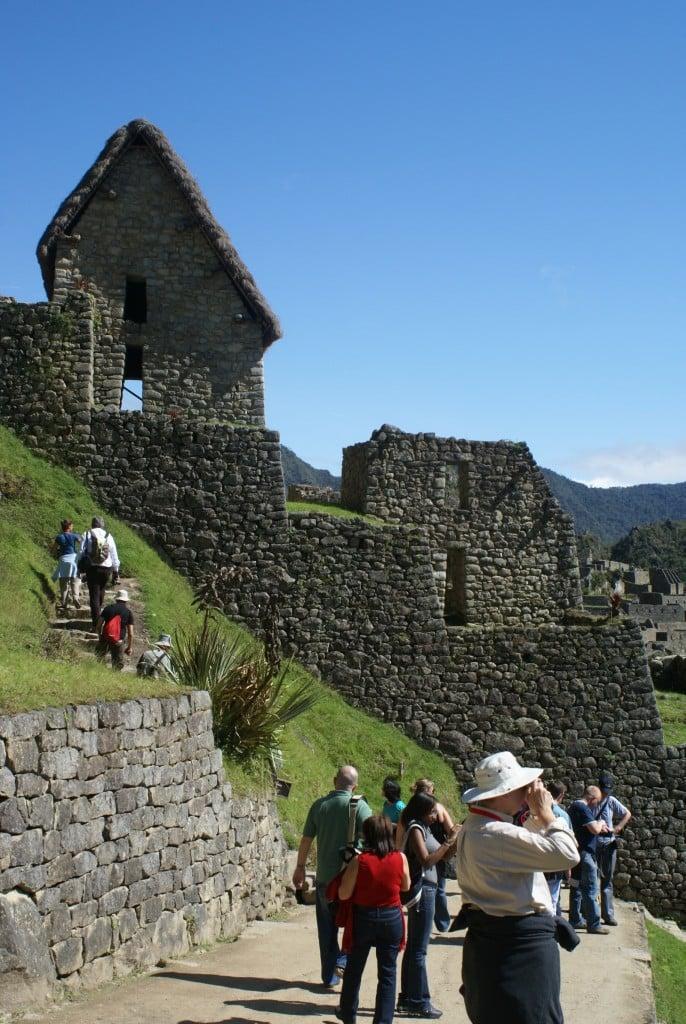 Balade dans la citadelle du Machu Picchu, Perou