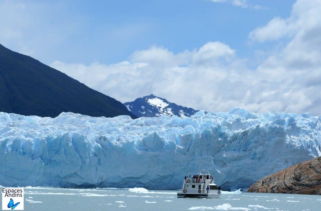 Le Parc national des glaciers à El Calafate en Argentine