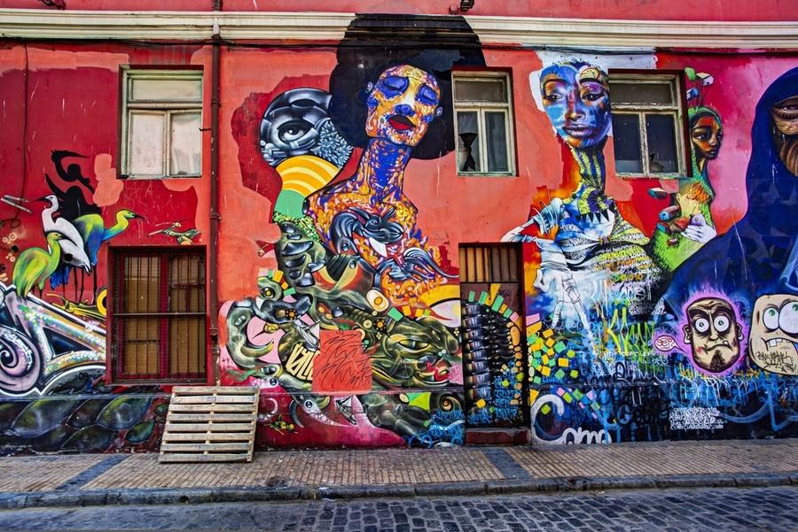 L'art de rue, à Valparaiso, Chili