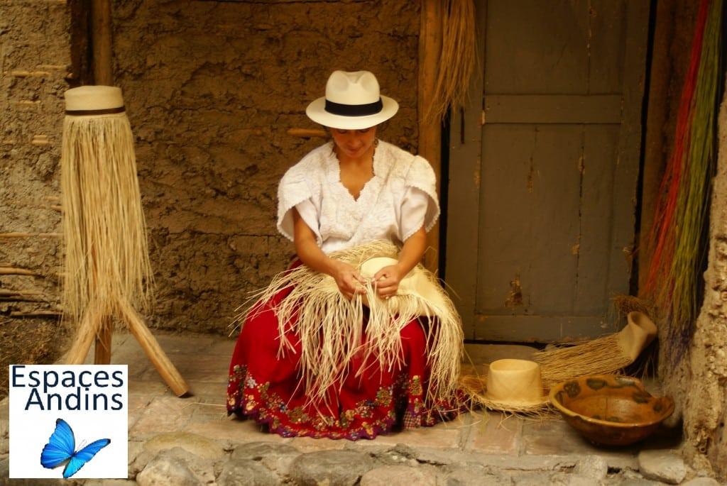 Fabrication chapeaux de paille à Cuenca