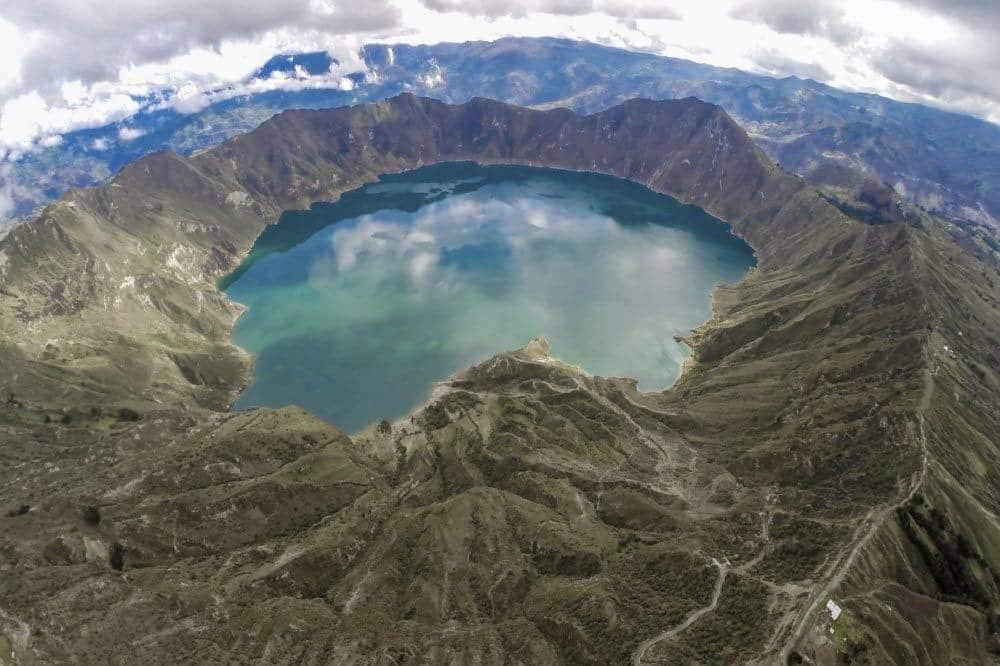 Lac du cratère du Quilotoa Equateur