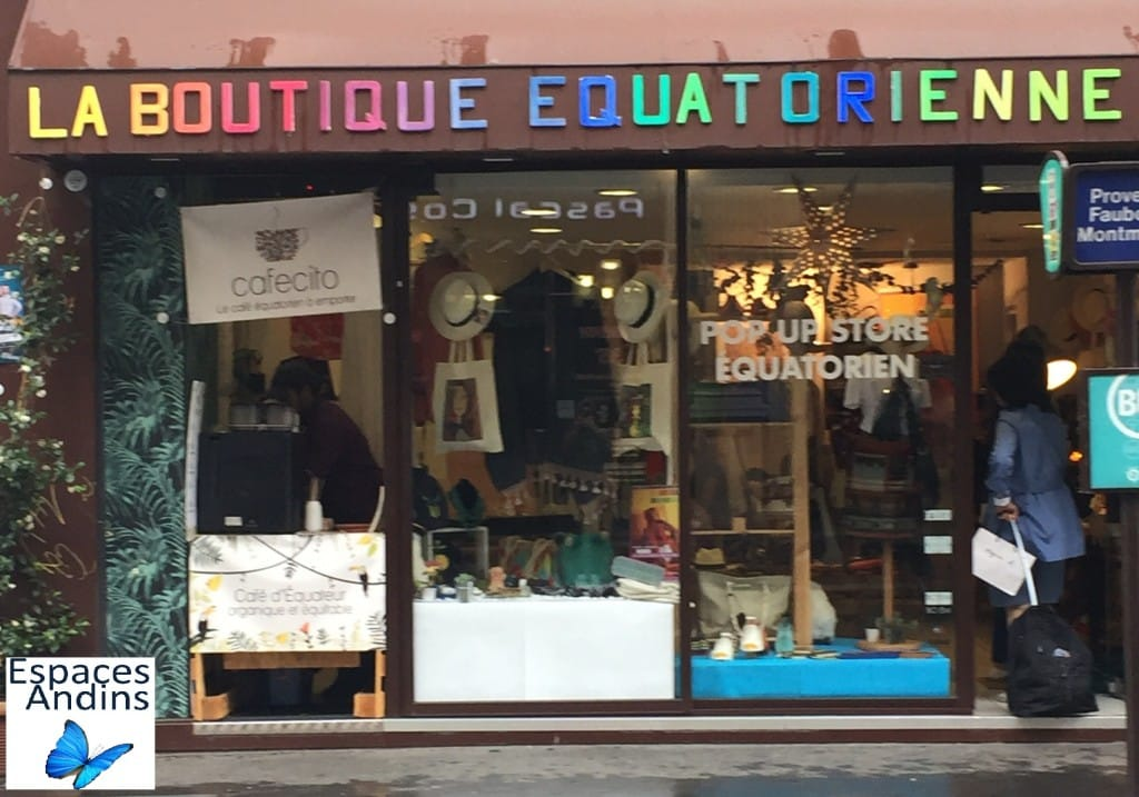 La boutique équatorienne à Paris