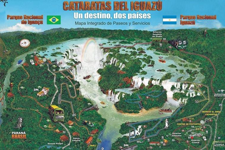 Carte des Chutes d'Iguazu