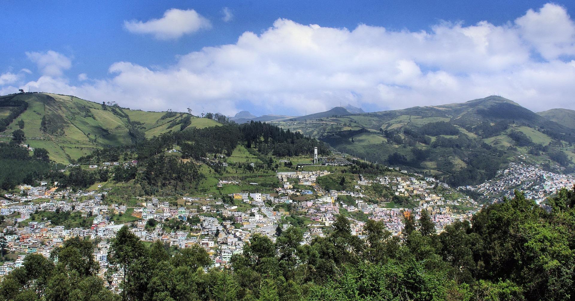 Vue des environs de Quito