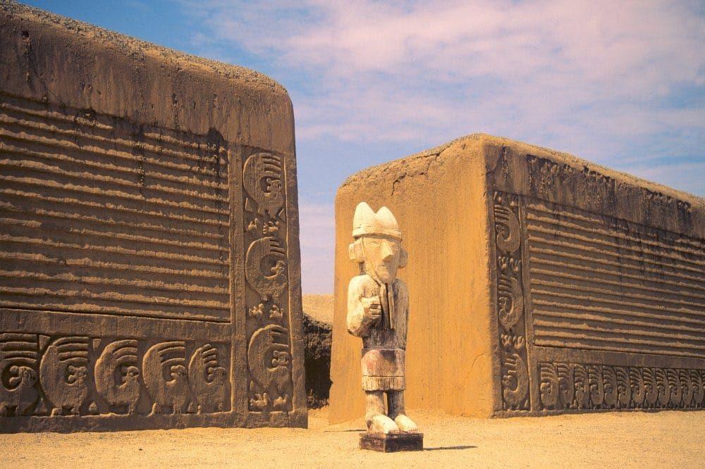 Le site de Chan Chan dans le nord du Pérou