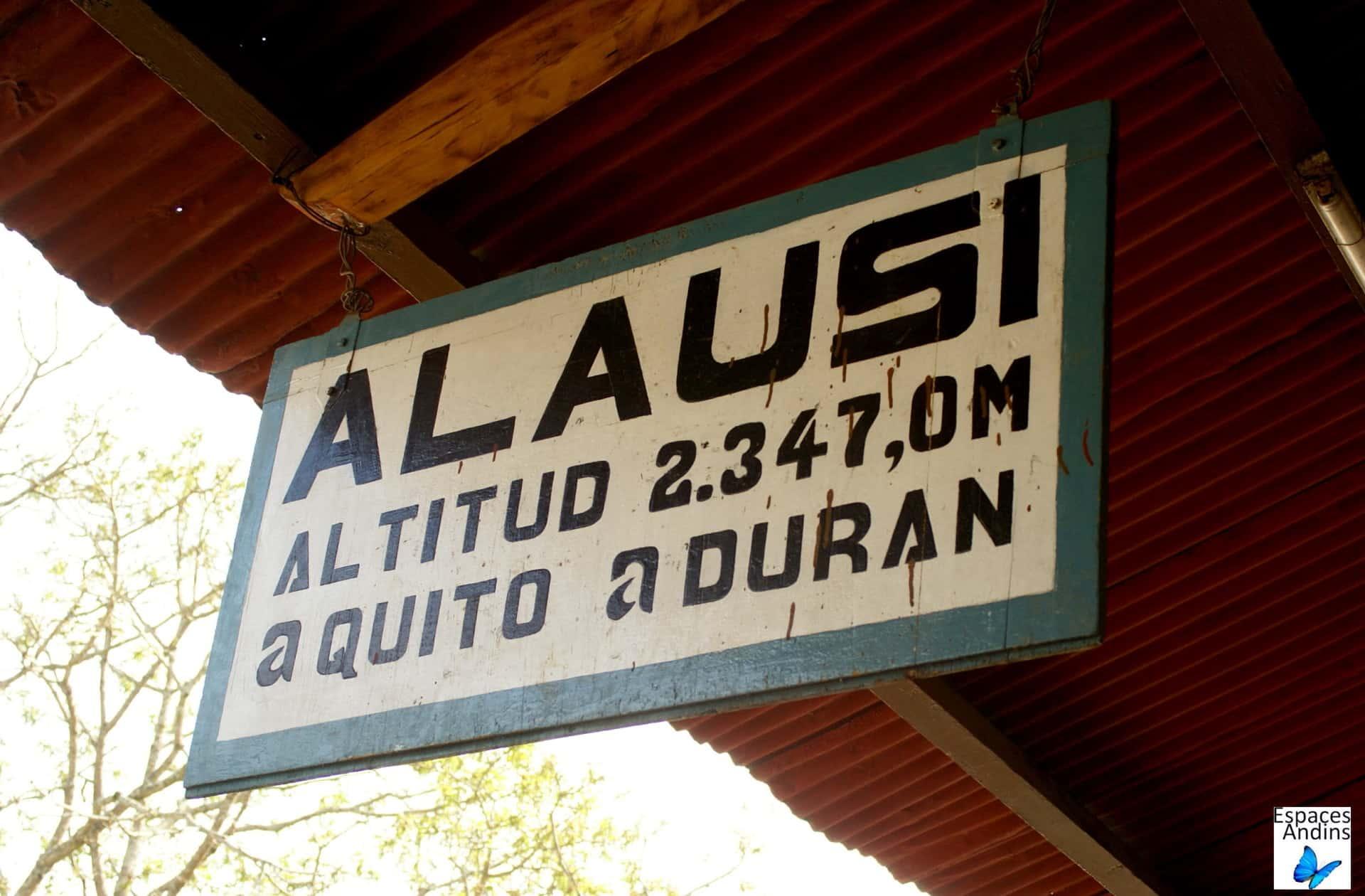 La gare d'Alausi, Equateur