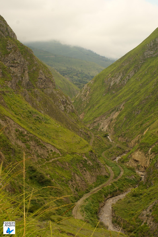 Le trajet en zig zag / Photo : Espaces Andins