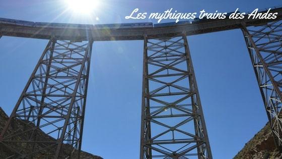 Article Blog Sur Les Voyages Dans Les Trains Dans Les Andes, Amérique Du Sud