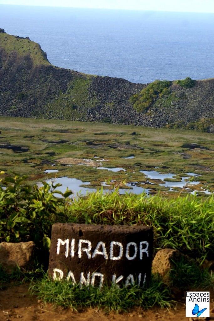 Mirador Rano Kau / Photo : Espaces andins