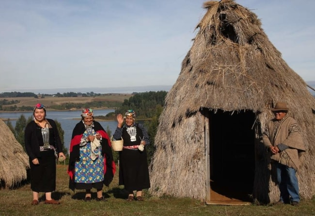 Ruka, habitation traditionnelle Mapuche, Chili