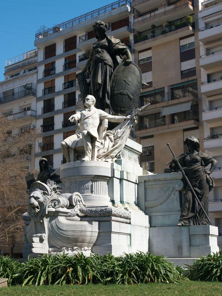 La statue Pellegrini, Buenos Aires