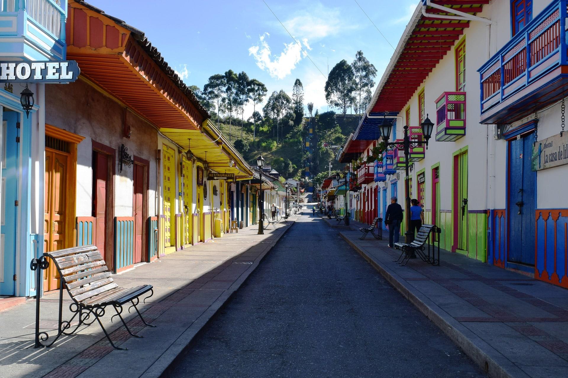 Salento Et Ses Maisons De Toutes Les Couleurs, Colombie