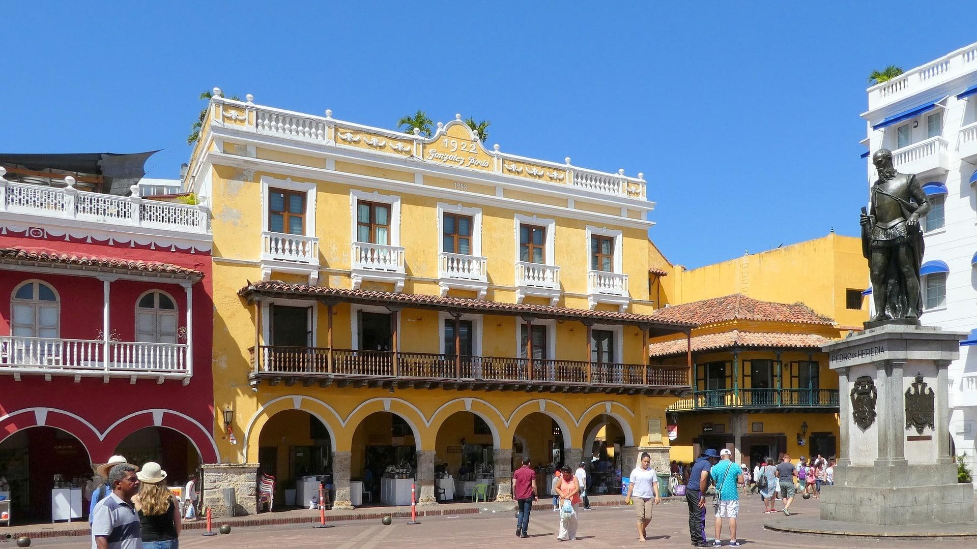 Architecture Coloree De Carthagene Des Indes, Colombie