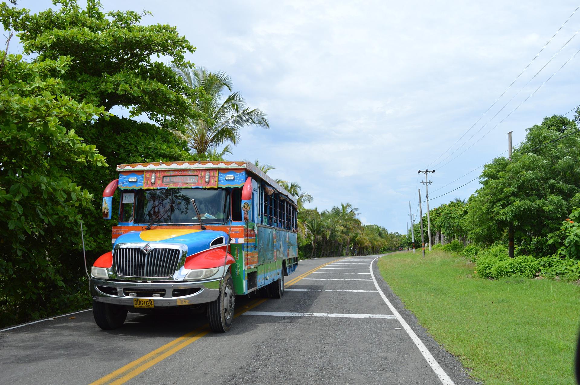 Bus Colombien Coloré