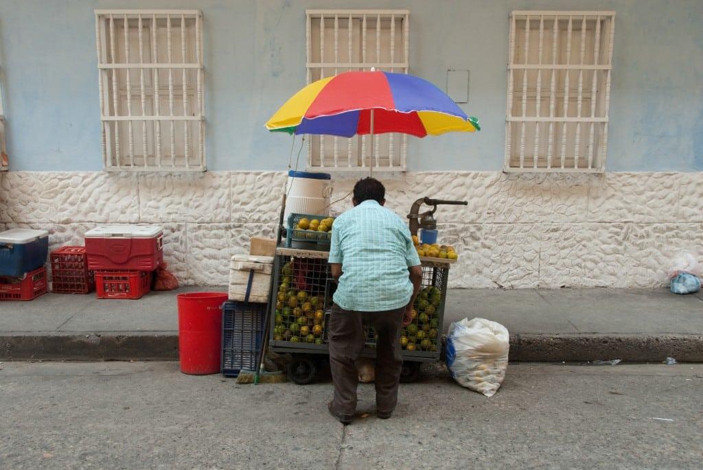 Colombie-vendeur fruits