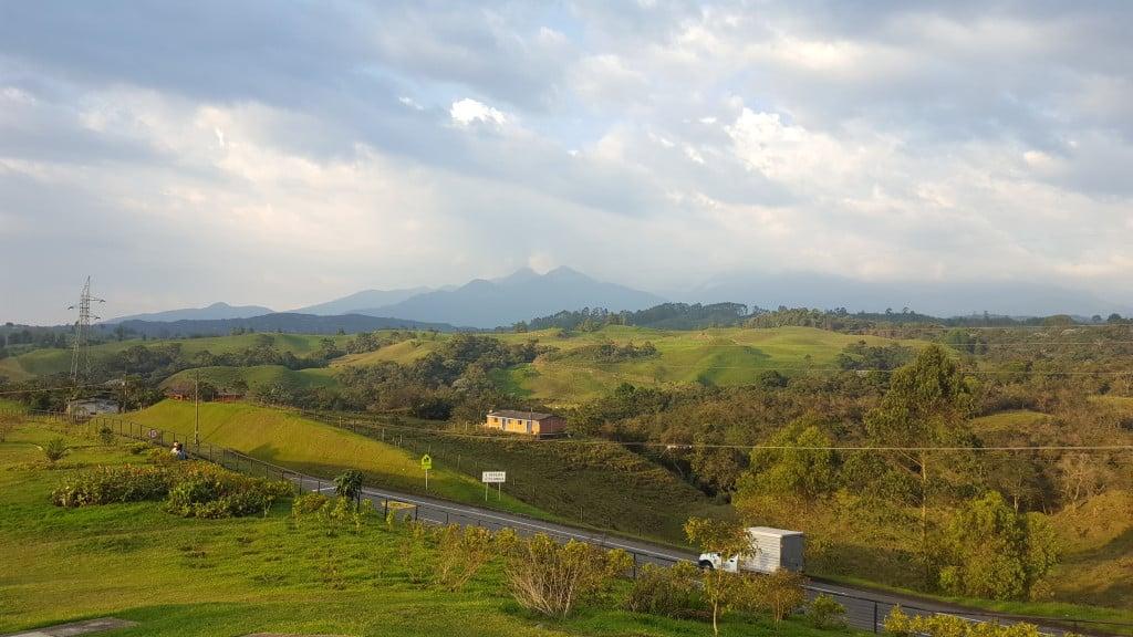 Sur la route de la region du café - colombie