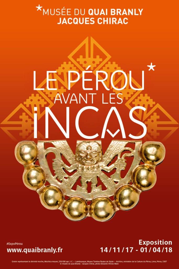 Affiche Pérou avant les incas // Musée du Quai Branly - Jacques Chirac