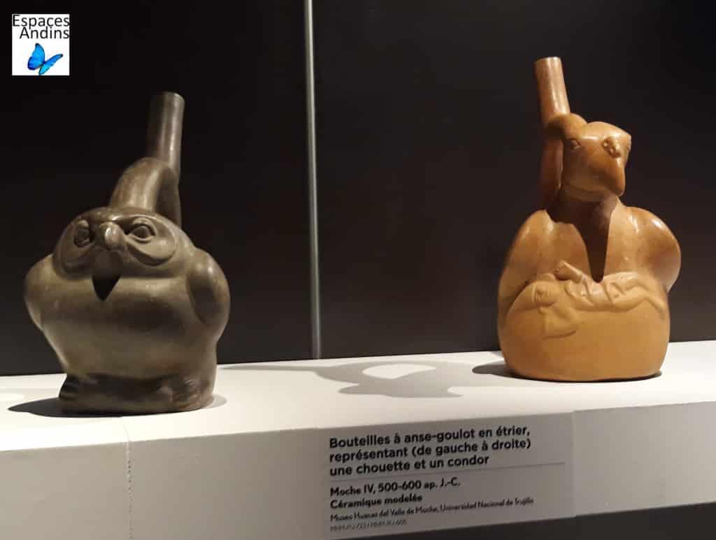 Bouteille représentant une chouette et un condor // Musée du Quai Branly - Jacques Chirac