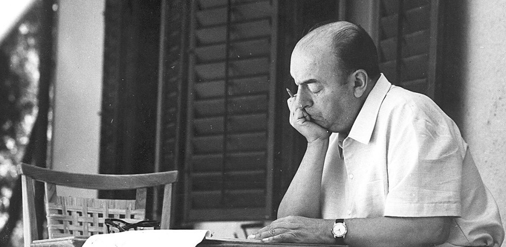 Séance de travail, Pablo Neruda Photo : Fondation Pablo Neruda