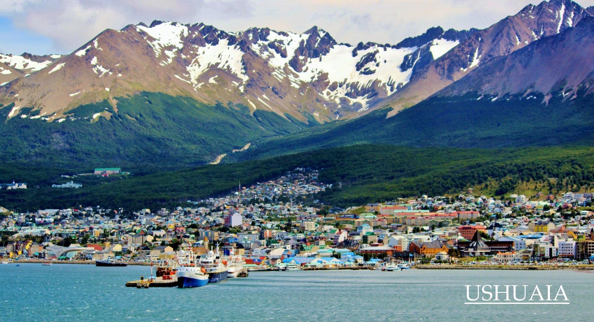 Ushuaîa, Argentine, La Baie Qui Va Vers La Mer