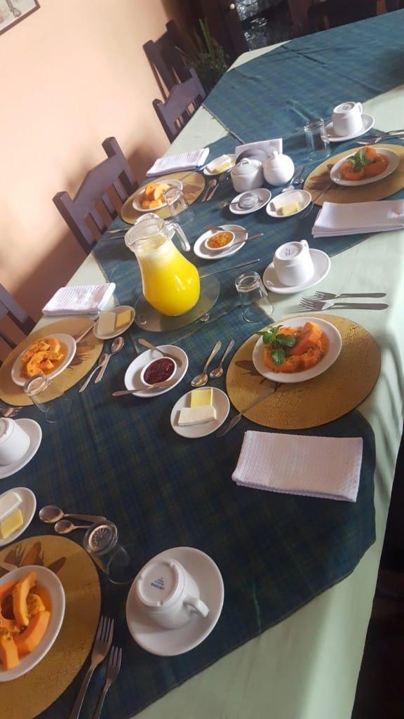 Finca Colombie petit dejeuner