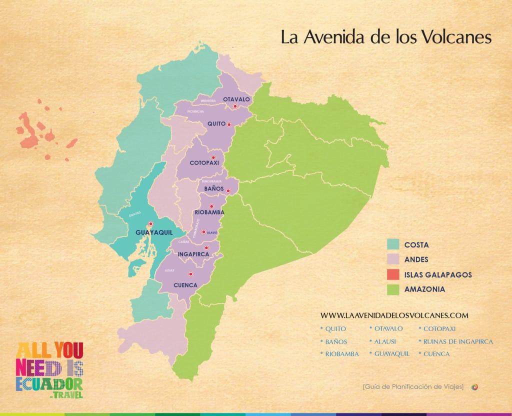 Avenue des volcans Equateur