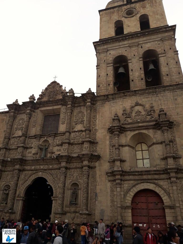 La basilique San Fernando dans le centre-ville de La Paz, en Bolivie // Photo : Espaces Andins