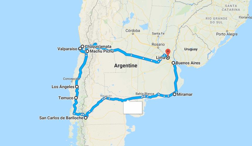 carte argentine che
