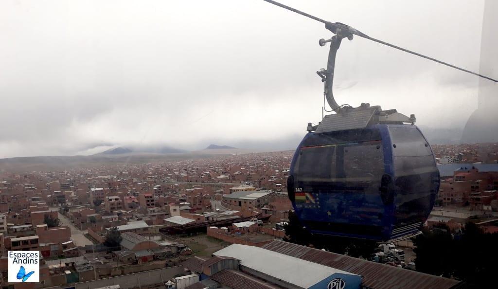 Le téléphérique de La Paz/El Alto, en Bolivie //Photo : Espaces Andins