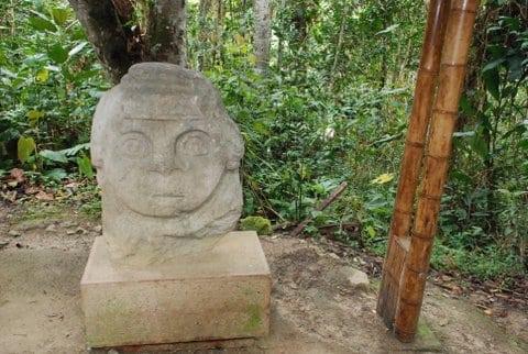 Site archéologique de San Augustin, Colombie Photo : François et Marianne B..