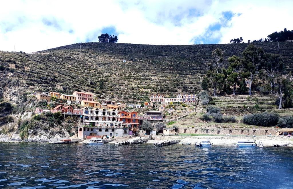 Départ de l'Ile de Soleil, Ile Titicaca, Bolivie