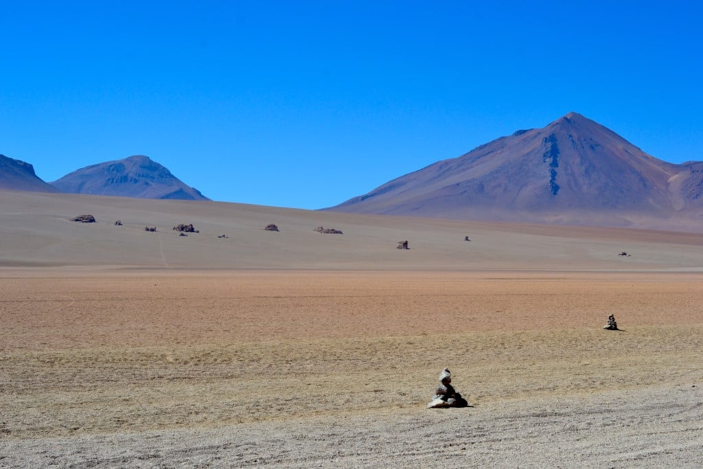 Le désert de Dali en Bolivie. Photo : Espaces Andins