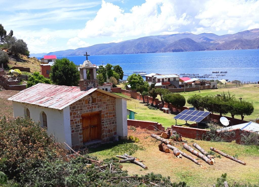 Eglise de l'Ile de la lune, Titicaca, Bolivie Photo : Espaces Andins